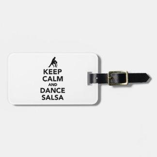 Keep calm and dance Salsa Bag Tag