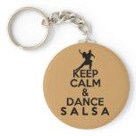 KEEP CALM AND DANCE SALSA gift Keychain