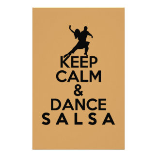 KEEP CALM AND DANCE SALSA gift Stationery
