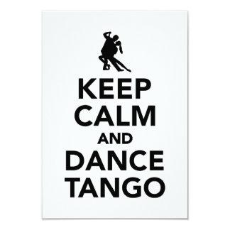 Keep calm and dance Tango Card