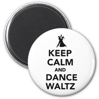 Keep calm and dance Waltz Magnet