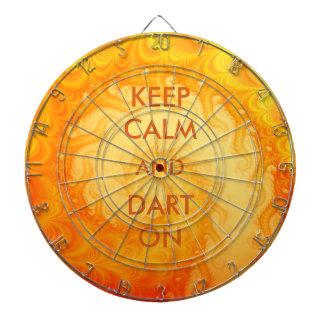 Keep Calm and Dart On Abstract Fractal Art Dartboard