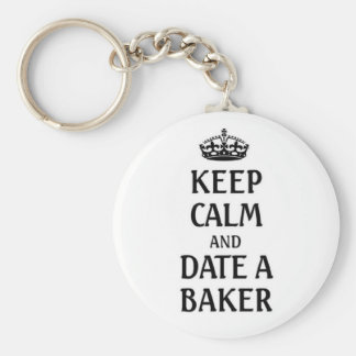 Keep calm and date a baker basic round button keychain