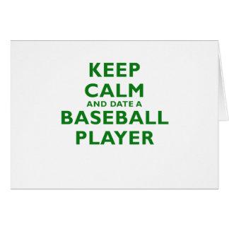 Keep Calm and Date a Baseball Player Card