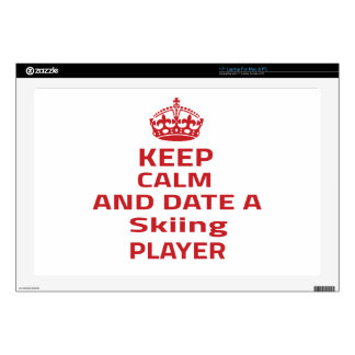 """Keep calm and date a Skiing player Decal For 17"""" Laptop"""