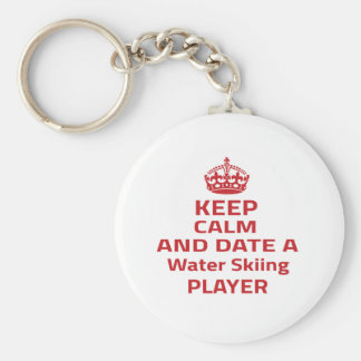 Keep calm and date a Water Skiing player Key Chain