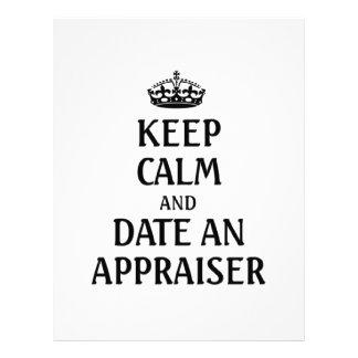 Keep calm and date an appraiser letterhead
