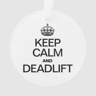 KEEP CALM AND DEADLIFT ORNAMENT