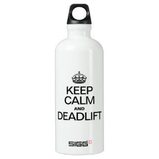 KEEP CALM AND DEADLIFT WATER BOTTLE