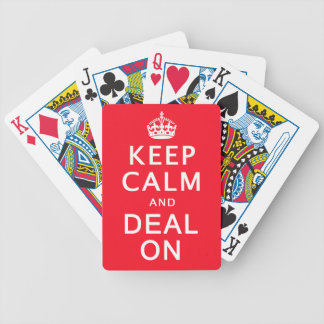Keep Calm and Deal On Playing Cards