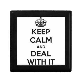 Keep Calm and Deal With It Jewelry Box