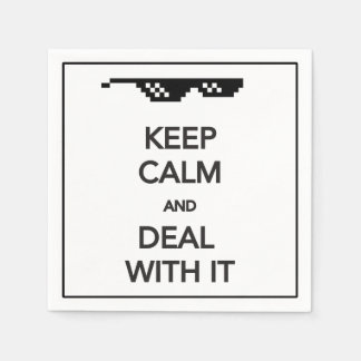 KEEP CALM and Deal with It Standard Cocktail Napkin