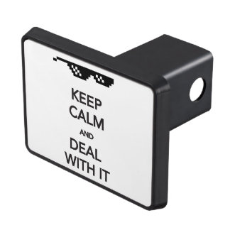 KEEP CALM and Deal with It Tow Hitch Cover