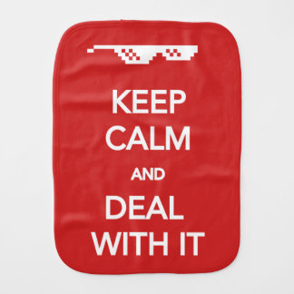 KEEP CALM and Deal with It Baby Burp Cloths
