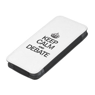 KEEP CALM AND DEBATE iPhone 5 POUCH