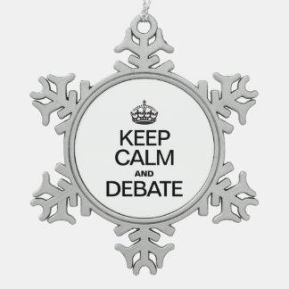 KEEP CALM AND DEBATE ORNAMENTS