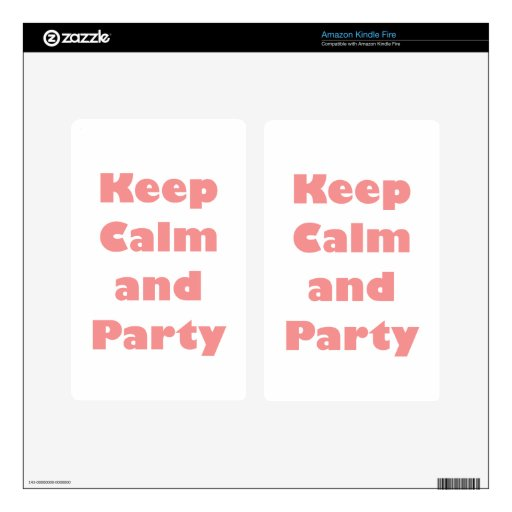 Keep Calm and.... Decals For Kindle Fire