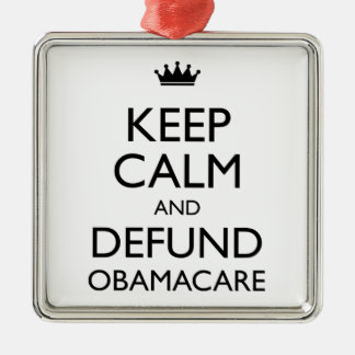 Keep Calm And Defund Obamacare Metal Ornament