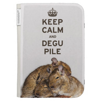 Keep Calm and Degu Pile Kindle Cases