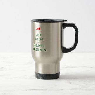 Keep Calm and Deliver Presents Travel Mug