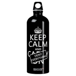 SIGG Traveller Water Bottle (0.6L) with Keep Calm and Deny Everything design