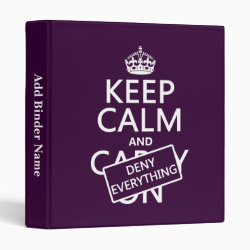 Avery Signature 1' Binder with Keep Calm and Deny Everything design