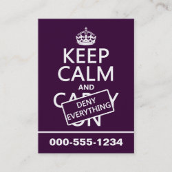 with Keep Calm and Deny Everything design
