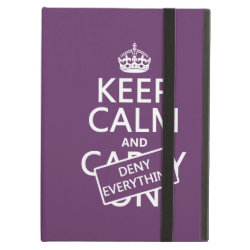 iPad Air Powis Case with Keep Calm and Deny Everything design