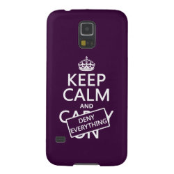 Case-Mate Barely There Samsung Galaxy S5 Case with Keep Calm and Deny Everything design