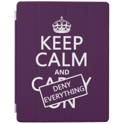 iPad 2/3/4 Cover with Keep Calm and Deny Everything design