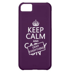 Case-Mate Barely There iPhone 5C Case with Keep Calm and Deny Everything design