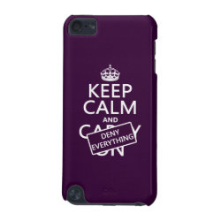 Case-Mate Barely There 5th Generation iPod Touch Case with Keep Calm and Deny Everything design
