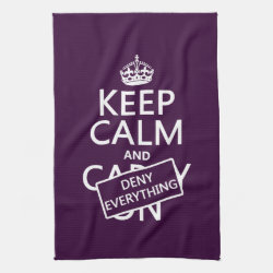 Kitchen Towel 16' x 24' with Keep Calm and Deny Everything design