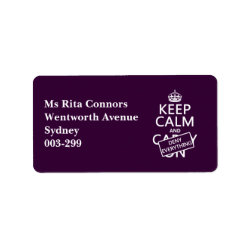 Address Label with Keep Calm and Deny Everything design