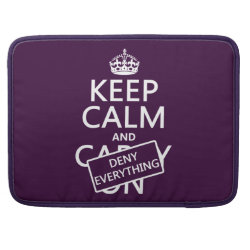 Macbook Pro 15' Flap Sleeve with Keep Calm and Deny Everything design