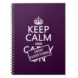 Photo Notebook (6.5' x 8.75', 80 Pages B&W) with Keep Calm and Deny Everything design