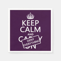 Paper Napkins with Keep Calm and Deny Everything design