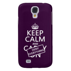 Case-Mate Barely There Samsung Galaxy S4 Case with Keep Calm and Deny Everything design