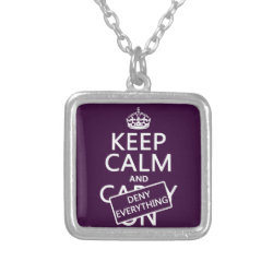 Small Necklace with Keep Calm and Deny Everything design