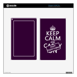 Amazon Kindle DX Skin with Keep Calm and Deny Everything design