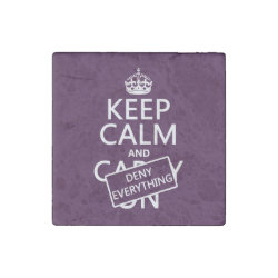 Marble Magnet with Keep Calm and Deny Everything design