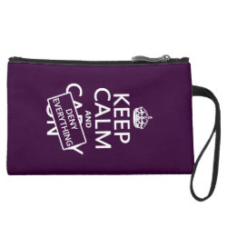 Sueded Mini Clutch with Keep Calm and Deny Everything design