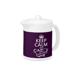 Small Tea Pot with Keep Calm and Deny Everything design