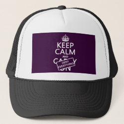 Trucker Hat with Keep Calm and Deny Everything design