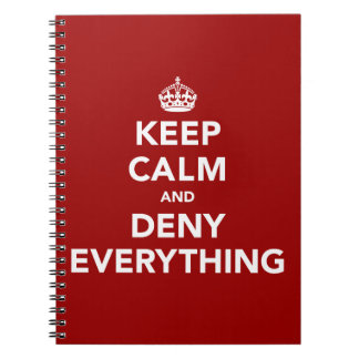 Keep Calm and Deny Everything Journal