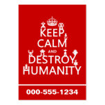 Keep Calm and Destroy Humanity (robots) Business Card Template
