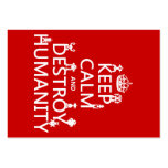 Keep Calm and Destroy Humanity (robots) Business Card Templates