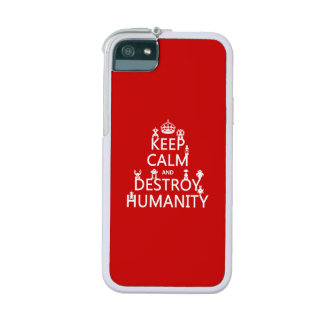 Keep Calm and Destroy Humanity (robots) iPhone 5/5S Covers