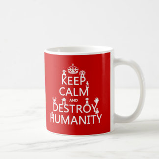 Keep Calm and Destroy Humanity (robots) Coffee Mug