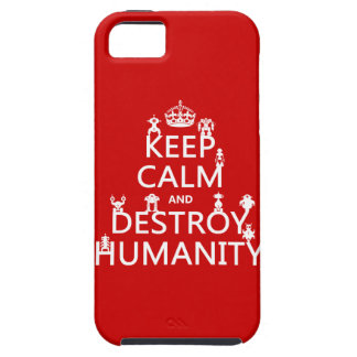 Keep Calm and Destroy Humanity (robots) iPhone SE/5/5s Case